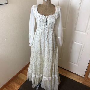 Vintage Gunne Sax Prairie Boho Long Sleeve Dress